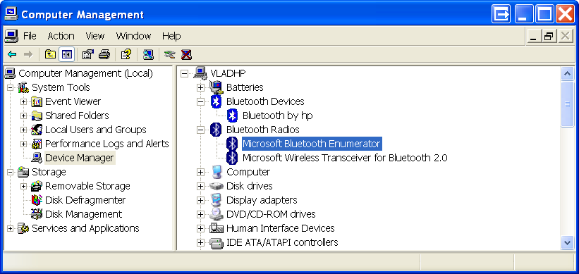 BlueCove - How determine which Bluetooth stack is used by